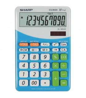 Calculator de birou 10 digits dual power EL-M332BBL SHARP