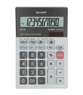 Calculator de birou, 10 digits, dual power, gri, EL-M711GGY, SHARP