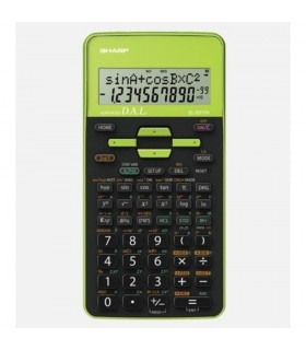 Calculator stiintific, 10 digits, 273 functiuni, dual power, negru/verde, EL-531THBGR SHARP