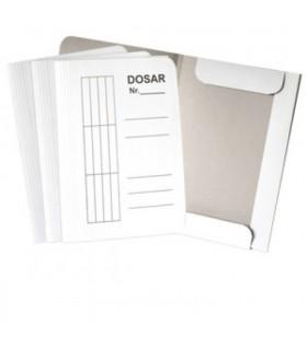 Dosar din carton cu inchidere tip plic A4, 230 g, alb