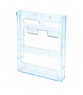 Suport brosuri perete A5 portret transparent DEFLECT-O