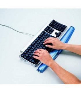 Suport tastatura si incheieturi albastru, gel crystal FELLOWES