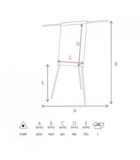Flipchart magnetic cu brate 68 x 105 cm MEMOBOARDS