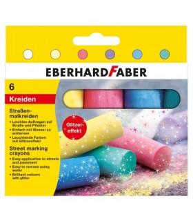 Creta desen asfalt 6 culori glitter EBERHARD FABER