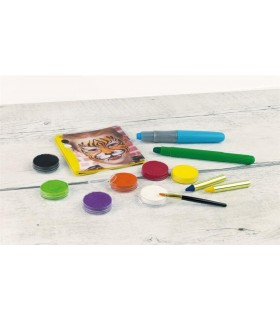 Creioane colorare par 3 buc/set cu pieptan Basic EBERHARD FABER
