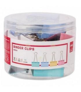 Clip hartie color 51 mm 12/cutie DELI