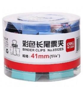 Clip hartie color 41 mm 24/cutie DELI