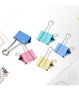 Clip hartie 32 mm, color, 24 buc/cutie, DELI