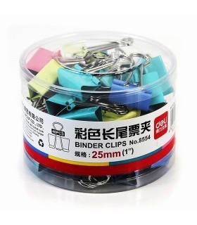 Clip hartie color 25 mm 48/cutie DELI