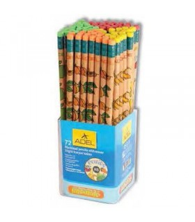 Creion grafit HB cu guma Fruits ADEL