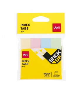 Index adeziv hartie 19 x 76 mm 4 culori pastel 100 file DELI