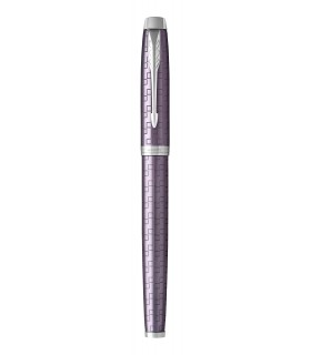 Stilou violet lucios, penita inox model Premium Dark Violet CT PARKER