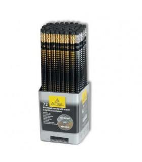 Creion grafit auriu & argintiu cu guma, duritate HB ADEL