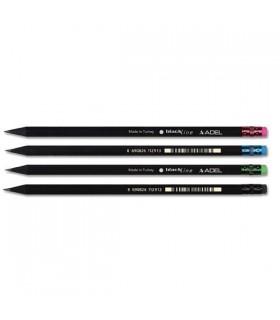 Creion grafit HB lemn negru ADEL