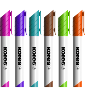 Marker whiteboard 3 mm, 10/set, cutie plastic, KORES