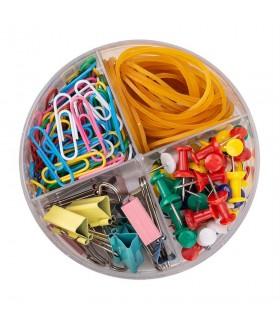 Set accesorii birou (agrafe, elastice, clipsuri, ace) DELI