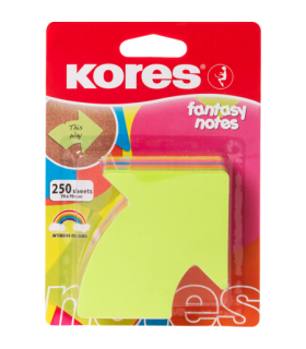 Notes adeziv Sageata, 70 x 70 mm, 5 culori neon x 50 file KORES