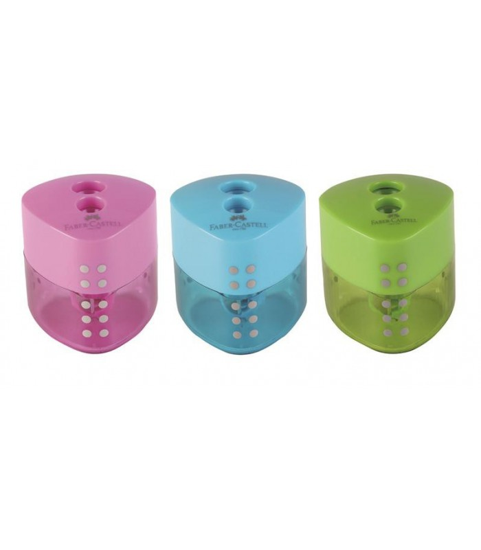 Ascutitoare plastic dubla Grip Pastel FABER-CASTELL