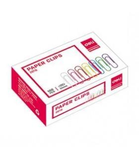 Agrafe birou color, 33 mm, 100 buc/cutie DELI