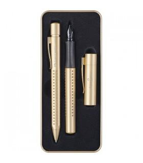 Set cadou stilou si pix Grip 2011 Gold FABER-CASTELL editie limitata