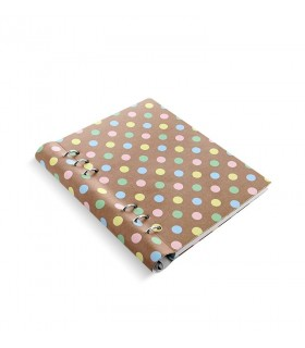 Caiet multifunctional Clipbook cu inel si rezerve A5  Patterns Pastel Spots, FILOFAX