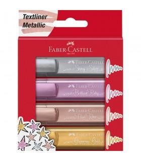 Textmarker culori metalizate 1546 4 /set FABER-CASTELL
