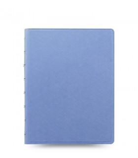 Caiet multifunctional Notebook Saffiano cu spirala si rezerve A5 Vista Blue, FILOFAX