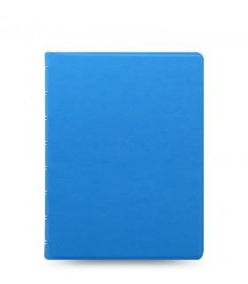 Caiet multifunctional Notebook Saffiano Fluoro cu spirala si rezerve A5 Blue, FILOFAX