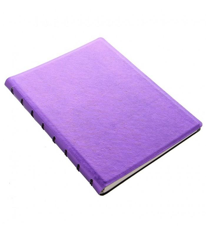 Caiet multifunctional Notebook Saffiano Metallic cu spirala si rezerve A5 Violet, FILOFAX