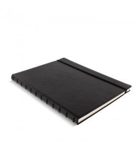 Caiet multifunctional Notebook Classic cu spirala si rezerve A4 Black, FILOFAX
