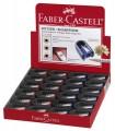 Ascutitoare plastic simpla cu cauciuc FABER-CASTELL