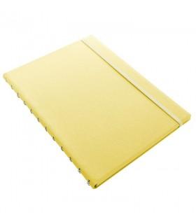 Caiet multifunctional Notebook Classic Pastels cu spirala si rezerve A4 Lemon, FILOFAX
