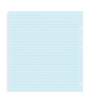 Rezerva hartie dictando, 25 buc/set Blue A5,  compatibila cu Agendele Organiser si cu Clipbook-urile FILOFAX