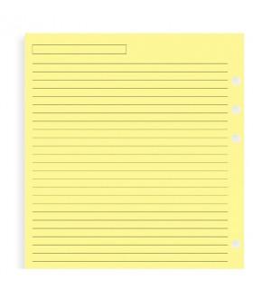 Rezerva hartie dictando 25 buc/set Yellow A5, compatibila cu Agendele Organiser si cu Clipbook-urile FILOFAX
