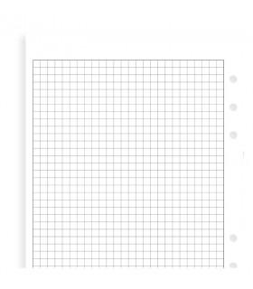 Rezerva hartie Quadrille 25 buc/set A5 compatibila cu Agendele Organiser si cu Clipbook-urile FILOFAX