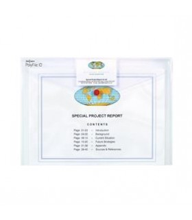 Mapa plastic A4 cu buton si buzunar carti vizita, SNOPAKE