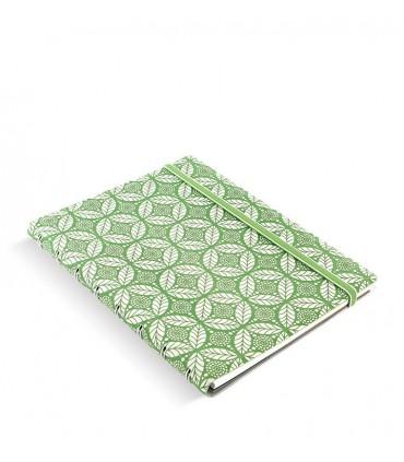 Caiet multifunctional Notebook Impressions cu spirala si rezerve A5 Green & White, FILOFAX