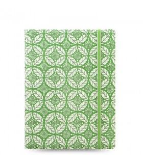 Agenda Notebook Impressions cu spirala si rezerve A5 Green & White FILOFAX