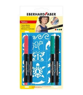 Markere pentru tatuaj 4 buc/set Kids EBERHARD FABER
