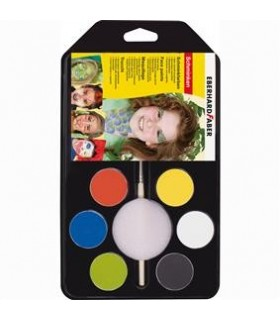 Set pictura pentru fata 6 culori cu pensula Party EBERHARD FABER