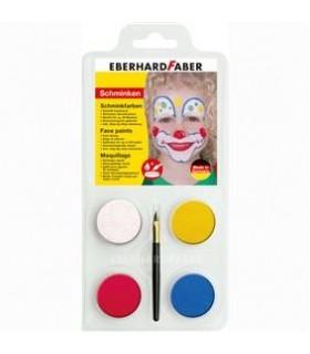 Set pictura pentru fata 4 culori cu pensula Clown EBERHARD FABER