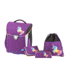 Ghiozdan echipat cu penar, etui, sac sport, Magic Dream violet, SCHNEIDERS