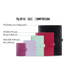 Rezerva hartie FILOFAX matematica 60 buc/set A5, 6 culori/set compatibila Notebook Filofax