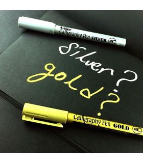 Marker auriu Calligraphy, varf tesit din fetru 2.5 mm ARTLINE