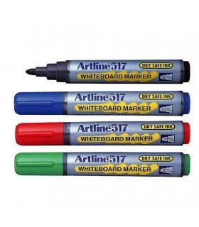 Kit burete magnetic + markere tabla de scris 517 varf rotund 2.0 mm, ARTLINE
