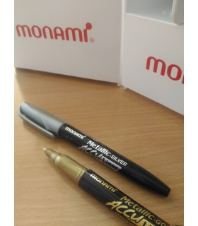 Marker permanent argintiu Accu Liner Metalic MONAMI