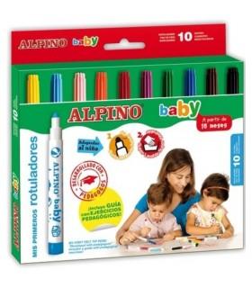 Carioci lavabile 10 culori/set ALPINO Baby