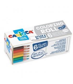 Coloring Roll Mini, 10 x 85 cm/rola, hartie autoadeziva White CARIOCA