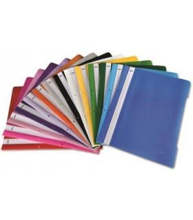 Pachet PROMO 400 dosare din plastic cu sina si gauri diverse culori NOKI