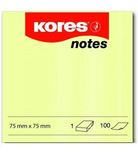 Pachet PROMO 12 notes adeziv galben pal 100 file KORES